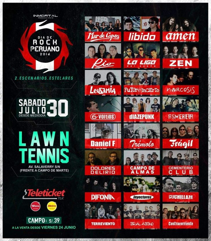 dea de rock peruano 2016 lawn tennis teleticket asmereir mar de copas libido